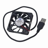 Wholesale Usb Dc Fan - Wholesale- 2 Pieces lot Gdstime Brushless USB DC Cooler Fan 5V 60mm 60x60x10mm 6010 6cm For Computer PC CPU Case Cooling