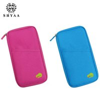 Wholesale Wholesale Bag Manufacturers - Wholesale- SHYAA Manufacturers Selling Version Of The New Multifunctional Travel Passport Card Bag Women Bag Travelling bag