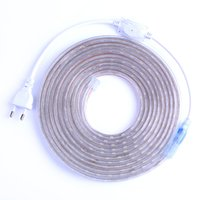 Wholesale 15m Blue Strip - Waterproof 220V SMD5050 5m 10m 15m 20m 25m led tape flexible led strip light 60 leds M outdoor garden lighting with EU plug