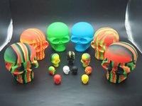 Wholesale Foods Contain - Big skull 500ml, containing silicone box, FDA food grade silicone, 100%