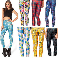 Commercio all'ingrosso - Donne Legging Gonne Leggings Donna Jeggings Pantaloni Legings Legging Legging Pantaloni Legins Gonne stampate 11 Skeleton Carino
