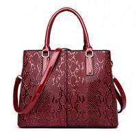 Wholesale Shoulder Bag Elegant Lady - pattern handbag lady shoudler bag Elegant PU leather fashion handbag 2017 hot sale for lady and girls