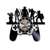 Wholesale character wall clocks - Playstation Game Characters Theme Vinyl Record Wall Clock Christmas Gift