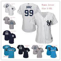 Wholesale Order Baseball Jersey Cheap - New York Yankees Womens Youth Aaron Judge Jersey 99 Team White Pinstripe Dark Blue Grey Ladies Kids Cool Base Jerseys Cheap Mix Order