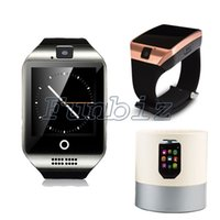 Wholesale Mp3 Camera Watch Cell Phone - Bluetooth Smart Watch Q18 With Camera facebook Sync SMS MP3 Smartwatch Support Sim TF card For IOS Android cell Phone watches
