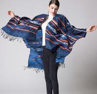 Wholesale Wholesale Ladies Fashion Ponchos - Hot Luxury Scarves Pashmina Shawls for Women 6 Colors Tassels Classical Shawl for Elegant Lady Scarf Shawls Keep Warm