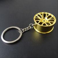 Wholesale Kia Keyring - Metal Zinc Alloy Wheel Hub Tuning Keychain Key Chain Keyring For VW Benz KIA Audi Mazda Skoda BMW Car-styling