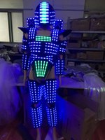 Wholesale Led Robot Costumes - LED robot  LED Costume  Light suits  LED Robot suits  The programming controller sets the helmet
