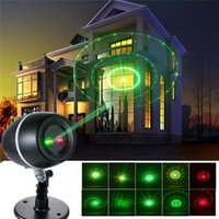 AC spotlight party - Christmas Projector Lights Red Green Moving Galaxy Spotlights Star Laser Landscape Lighting Outdoor Decorations Party Gadern Lights QQ Egg