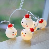 Wholesale Fairy Christmas Ornament - Christmas Decorations LED Snowman Festival Lights Decorated Fairy Lights Wholesale Christmas Ornaments 2M 20LED Drop Shipping