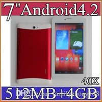 Wholesale tablet pc 3g phablet mtk6572 for sale - Group buy 40X inch G Phablet Android MTK6572 Dual Core GB MB Dual SIM GPS Phone Call WIFI Tablet PC Bluetooth B PB