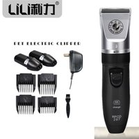 Electric Pet Clipper Rechargeable sans fil Pet Dog Gaver Rasoir Razor Cheveux Toilettage Clipper Animal Shaver Haircut Machine 0714003
