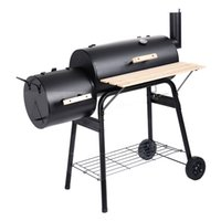 Iron outdoor bbq pits - Outdoor BBQ Grill Charcoal Barbecue Pit Patio Backyard Meat Cooker Smoker