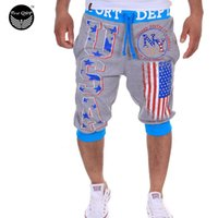 Pantaloncini all'ingrosso Mens collant a compressione Bermuda Flag Digital Printing Uomini Homme Shorts PQWOMH