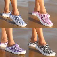 Wholesale Wholesale Fashion Plus Size Shoes - Beach Sandals Woman Beach Shoe Woman Holiday Home Leisure Shoes Fashion Print Hollow Lady Casual Shoes Summer Sandals Plus Size 35-41 613