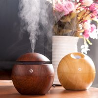 Wholesale Wooden Aroma Diffuser - Mini Portable Mist Maker Aroma Essential Oil Diffuser Ultrasonic Aroma Humidifier Light Wooden USB Diffuser For Home Office