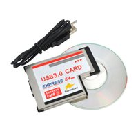 Wholesale Expresscard Card 54mm - Express Card 54mm to USB 3.0 x 2 Port Expresscard PCI-E to USB Adapter PromotionHot New Arrival