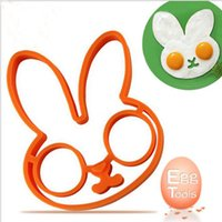 Wholesale Rabbit Silicone Mold - Amazing 1pcs egg little white rabbit egg shaper silicone moulds egg ring silicone mold cooking tools