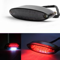 Cafe Racer 28 LED Motorcycle Quad ATV Frein Running License Plate Tail Light 12V