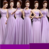 Wholesale Special Ocassion - special ocassion 2017 women dresses peplum long formal lavender party dress classic evening dresses for party night W1978