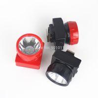 lámparas de minero al por mayor-30 unids / lote hengda luz led ld-4625 / lámpara de minero sin cable / luz de minería subterránea 1w 1 + 6 led 18650 de iones de litio envío gratis