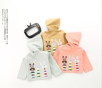 Wholesale Korean Doll Clothes - INS 3 color New autumn winter clothes Korean style Cute cartoon pattern 100% cotton Cartoon doll long sleeve coat free shipping