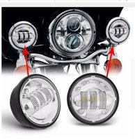 """Wholesale Motorcycle Lamp Led Auxiliary - 4.5 INCH Motorcycle Led Fog Lamp 4-1 2"""" 30W Chrome LED Auxiliary Fog Passing Light for Harley Daivdson"""