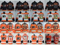 5cc9667eb Philadelphia Flyers Jerseys Stadium Series Winter Classic Hockey 17 Wayne  Simmonds 28 Claude Giroux 53 Shayne Gostisbehere 93 Jakub Voracek ...