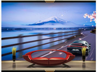 Wholesale classic car home decor - High end Custom 3d photo wallpaper murals wall paper most beautiful luxury sports car 3D living room wallpaper background wall home decor