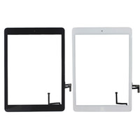 Wholesale Ipad Glass Assembly - 50PCS Touch Screen Glass Panel Digitizer with Buttons Adhesive Assembly for iPad Air free Shipping