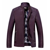 Wholesale Leather Stylish Winter Jacket - Jacket Men Turn-down Collar blazer Polyester Leather Stylish 2017 New Arrival Winter Men Coat Size M-4XL black Jackets