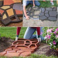 Wholesale cement brick - DIY Plastic Path Walk Maker Walkmaker Mold Manually Paving Cement Concrete Brick Molds Resin Stone Road Tools