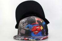 Wholesale Snapbacks Dc - 2017 New DC Comics Superman Snapbacks caps baseball hat for men women Adjustable Outdoor Hats Unisex Fashion Hip Hop cap free Shipping