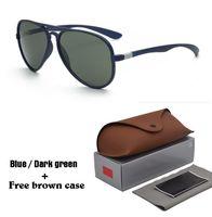 caso piloto vintage al por mayor-Diseño de marca Gafas de sol para hombres, mujeres, moda, espejo retro vintage, gafas de sol, gafas UV400 con estuche y estuche