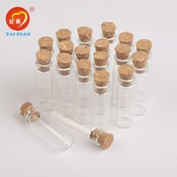 Wholesale 2ml Mini Glass Bottles Pendants With Cork or Rubber Stopper Small Bottle Decoration Crafts Vials Jars Gift DIY Bottles