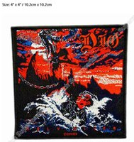 "Wholesale Holy Art - 4"" Dio Holy Diver Album Cover Art Heavy Metal Music Band Woven Iron On Patch TRANSFER MOTIF APPLIQUE Rock Punk Badge"