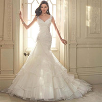 Wholesale Nova Used - Milla Nova 2017 Mermaid Wedding Dresses Cap Sleeve Vestido De Novia Elegant Bridal Gowns used Organza