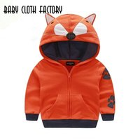 Wholesale winter sports boys clothing children s coats cute animal design zipper hooded jacket boys outwear sweatshirts kids clothes