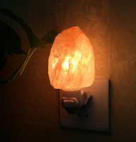 Wholesale Salts Lamps - Natural Salt Lamps Himalayan Salt Night Light Nursery Lamp Mini Decorative Night Lighting with Air Purifier Plug in Wall