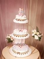soporte de la torta de nivel de metal al por mayor-Soporte de pastel de boda de hierro de 3 niveles 30 * 60 cm Accesorios de cocina Pastel Cupcake Postre Snack Fruit Display Holder para tienda de fiesta Bar Club Suministros