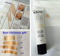 Wholesale 2017 Newest NYX BB Cream beauty balm baume beaute brightens smoothes moisturizes oil free Mineral Enriched ml Colors