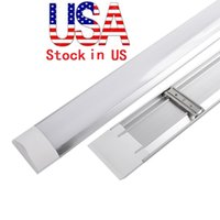Wholesale Led Lights Fixtures Wholesale - LED tri-proof Light Batten T8 Tube 1FT 2FT 3FT 4FT Explosion Proof Two LED Tube Lights Replace Fluorescent Light Fixture Ceiling Grille Lamp