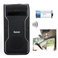 Novo Wireless Bluetooth Handsfree Preto Car Kit Speakerphone Sun Visor Clip 10m Distância Para iPhone Smartphones com carregador de carro
