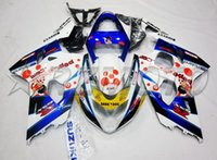 Novo kit de carenagem ABS para SUZUKI k4 gsxr600 gsxr750 conjunto de carenagens 2004 2005 04 05 GSXR 600 750 + pára-brisas + parafuso + Tank Pad Dark Dog