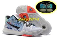 Wholesale Christmas Glowing Star - Kyrie 3 All Stars Glow in Dark Basketball Shoes Team Red Mens BHM Navy Gold Christmas Sneakers