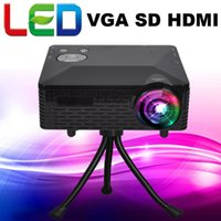 Wholesale Projector Kits - Wholesale-Freeshipping Multimedia Portable Kit LCD Projector Led Mini Home theater beamer projetor 100lumens with USB HDMI VGA AV SD
