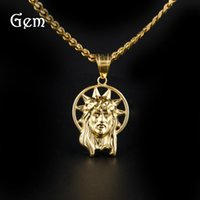 New Arrival Hiphop Accessoires Pop Jesus Charm Pendentif Colliers For Boy Nightclub Cool Party Jewelry Wholesale