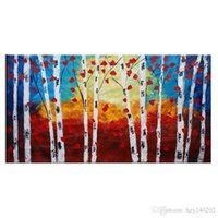 Wholesale Jungle Oil Paintings - YIJIAHE Wall Art H72 1 Pieces Color the jungle Paintings On Canvas The Hand-Painted Wall Pictures For Living Room Bedroom ect.