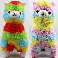 Wholesale Alpaca Plush Toys - Hot 17cm 35cm Rainbow Alpaca Vicugna Plush Toys Kawaii Alpacasso Stuffed Toys Japanese Stuffed Animals Doll Alpaca Plush Toys