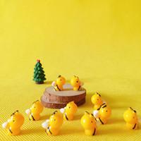 mini-fee garten tiere großhandel-Verkauf ~ 10 Stück Biene / Tiere / / Miniaturen / süß / Fairy Garden / Gnome / Moos Terrarium Dekor / Handwerk / Bonsai / Figur / diy Lieferungen